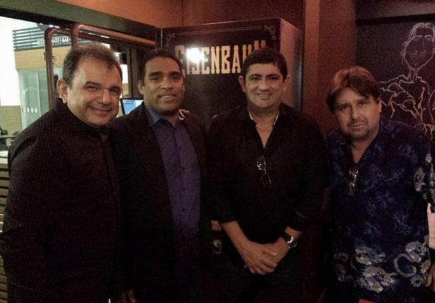 Delmo Menezes e os blogueiros Odir Ribeiro, Ricardo Callado e Sérgio Loros